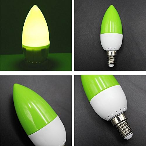 LED Bulb Candle Light Luminous 500lm AC 220V 2W Lighting Fixture Home Room Light Bulb Household Accessory Bedroom