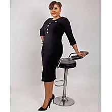 d6d0a1cddc Karen Ubani Apparel Mustard Yellow Splash Skirt. ₦ 7,000 · Button Detailed  Pencil Black Dress