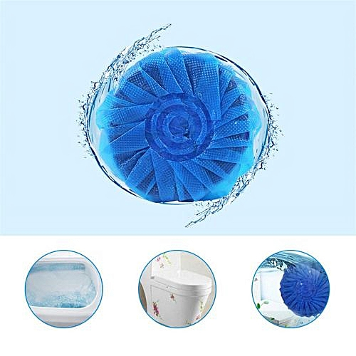 Fenhehu 5PC Automatic Toilet Bowl Antibacterial Cleaning Tabs Cleaner Deodorizer Blue
