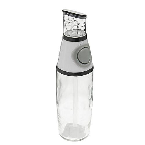 500ml Glass Olive Oil Vinegar Dispenser Pourer Bottle With No-Drip Spout Kitchen Grey