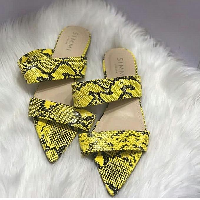 417952c248a Simmi Simi Yellow Flat Slippers