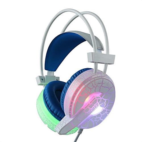 Cracked Pattern Video Game Headset Super Bass With Mic