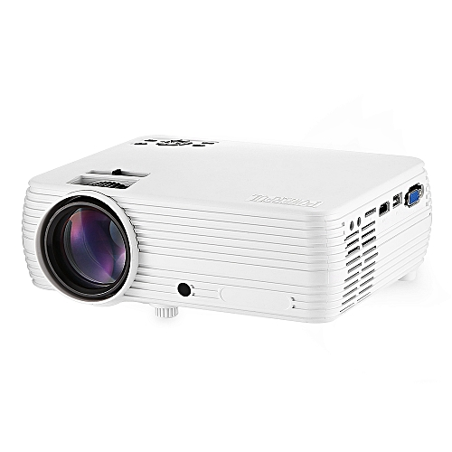Powerful X5 LCD 4.0 Inch HD LED Home Projector Support 1080P-WHITE