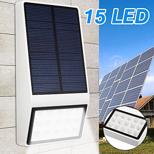 15 Bigger 5.5V 1W LED Lights Solar Wall LED Lamp Waterproof Outdoor Path Yard Garden Security Lamp