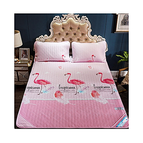 Pink Air Conditioning Soft Cool Bed Mat Three Pieces Sets