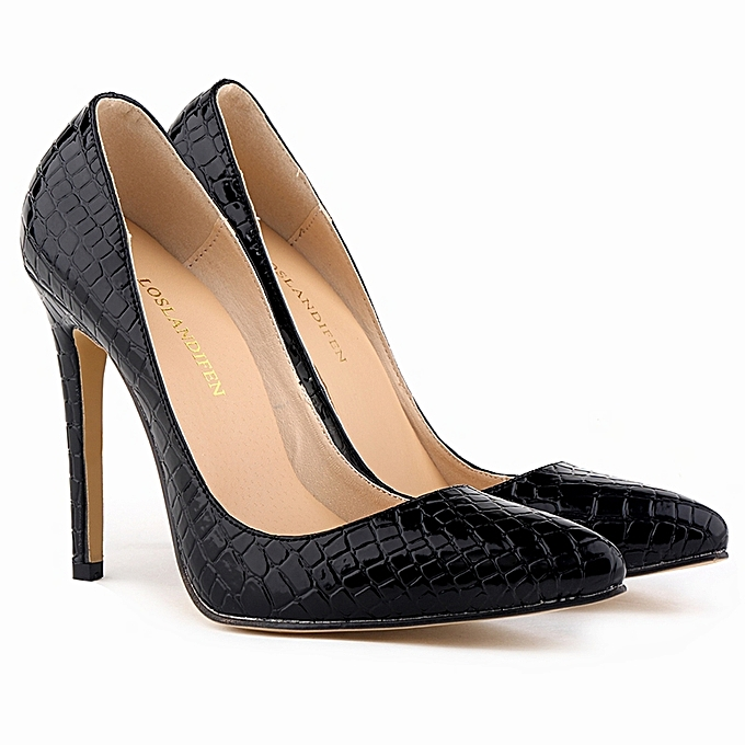 e4c46cf8e2e8eb Classic Sexy Pointed Toe High Heels Women Pumps Shoes Crocodile Spring  Brand Wedding Pumps Big Size