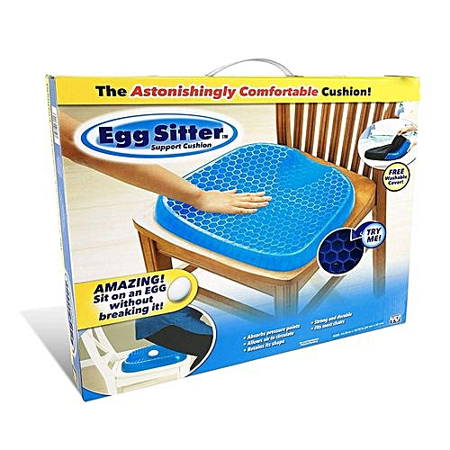Egg Sitter Seat Cushion With Non-Slip Cover, Breathable Honeycomb Design Absorbs Pressure Points