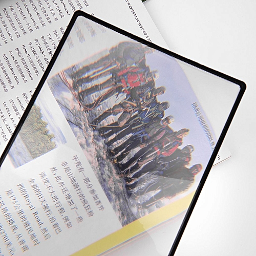 GENERAL 3X PVC Magnifier Sheet Book Page Magnifying Glass Reading Magnification Device