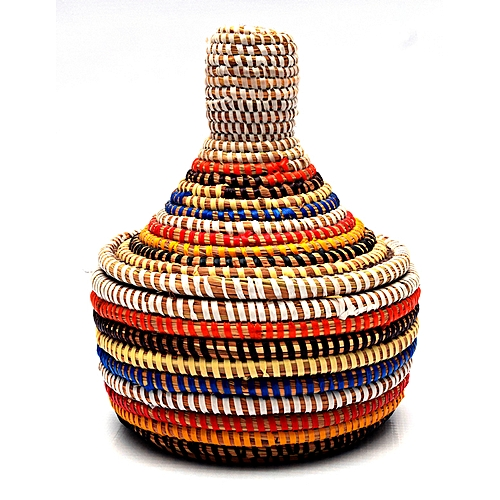 Hand Crafted Senegalese Jewelry Storage Baskets - Multi Color