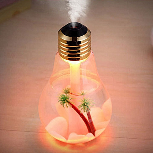 Colorful Light Bulb Humidifier Color Night Light Transparent
