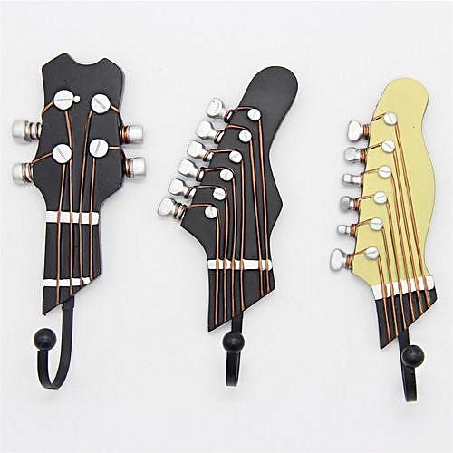 Three Pieces Of Guitar Hook Wall Hook - Brown