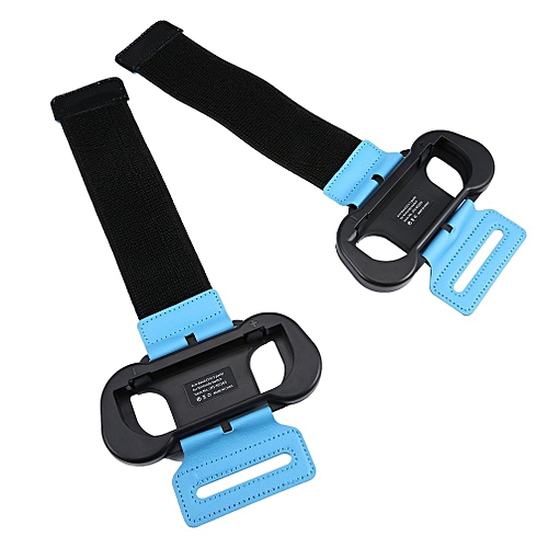 Gamepad Stand Armband Hand Grip Holder Armband For Nintend Switch Just-Dance Black + Blue