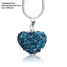 0333c75a4 Heart Shape Pendant Chain Necklace Jewelry Women Fashion Rhinestones Crystal