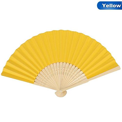 Eleganya Chinese Style Hand Held Bamboo Paper Fan Folding Fan Wedding Party Decor Favors