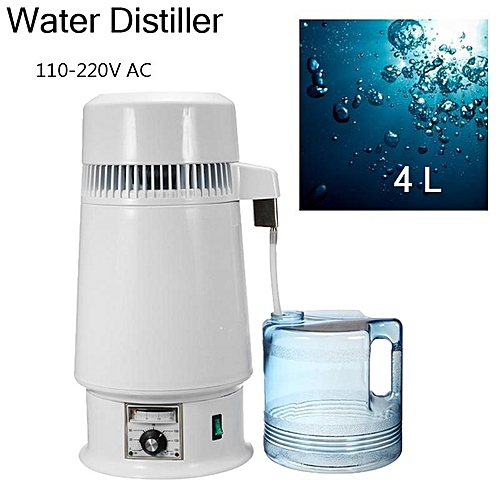 1Gal 4L 750W Pure Water Distiller Filter Stainless Steel Medical Home Purifier 110V US PLUS