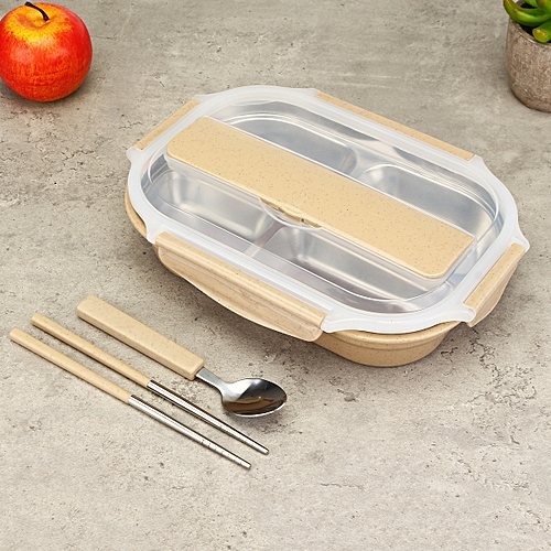 Thermal Insulated Stainless Steel Lunch Box Picnic Bento Food Storage Container