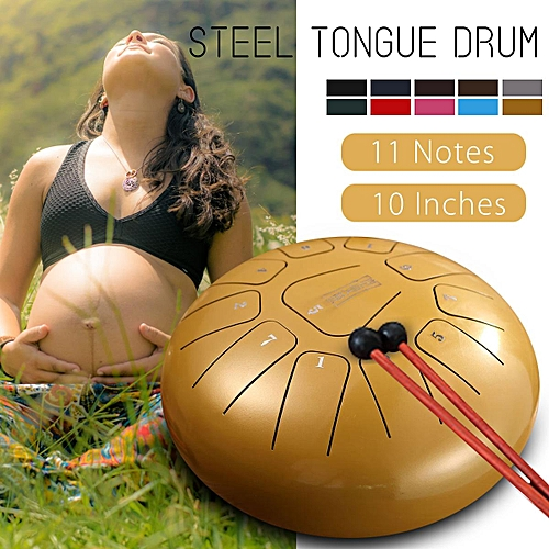 30*30*20cm 10 Inch Steel Tongue Drum 11 Musical Notes Handpan Tankdrum Percussion Instrumet