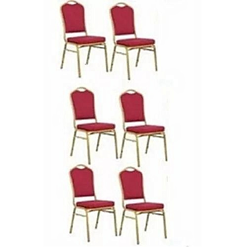 High Quality Banquet Chair - Red (Set Of 6) LEVEL UP