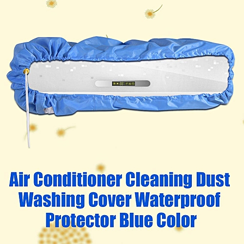 Air Conditioner Cleaning Dust Washing Cover Waterproof Protector Blue Color L