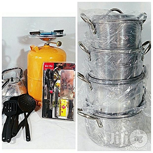 Universal Set Pot ,gas Stove,knife,non Stick Spoon Kettle And Table Spoon