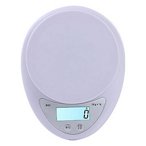 5kg Kitchen Digital Weighing Scale-White