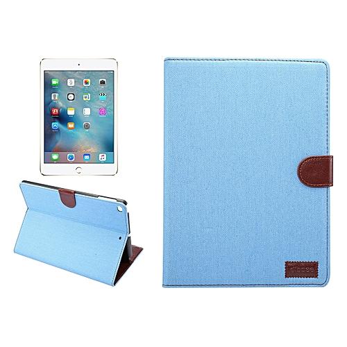 For IPad 9.7 Inch IPad Air (IPAD5) & IPAD Air2 (IPAD6) Denim Cloth Texture Surface Horizontal Flip Leather Protective Case With Holder & Card Slots & Wallet & Sleep(Baby Blue)