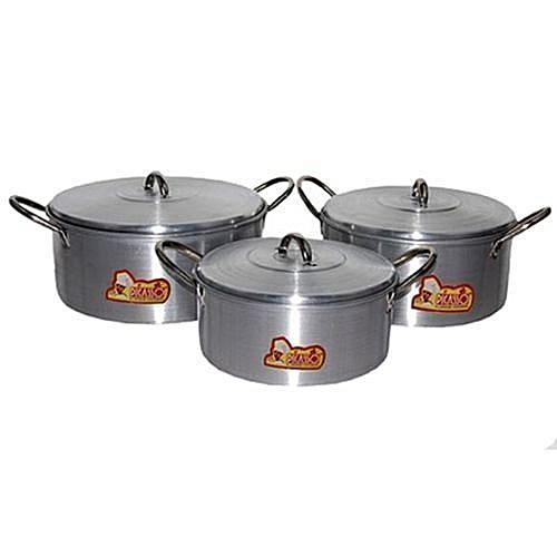 Cooking Pot Set 3 Pcs Small