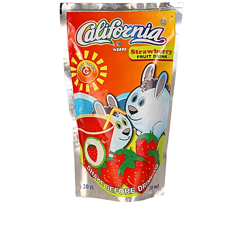California Sun Strawberry Juice 200ml Pack Of 40