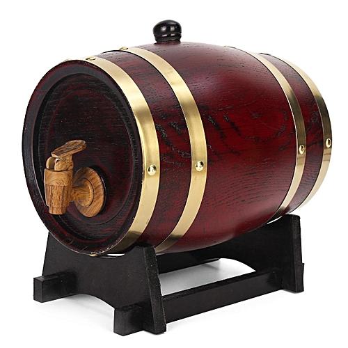 1.5L/3L/5L Oak Barrel Wooden Timber Red Wine Whisky Rum Wine Brewing Keg Contain#3L
