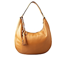 f16815f1c58005 ACORN WOMEN LADIES OFFICE/CORPORATE SOFT LEATHER SHOULDER HAND BAG - BROWN