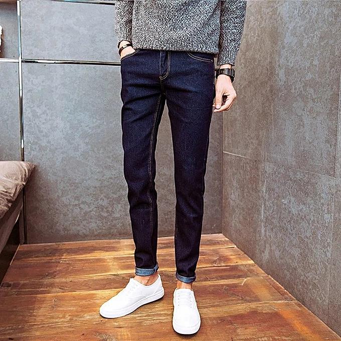 85ba1c676 Summer Casual Jeans, Korean Version, Teenage Students, Elastic, Slim  Pencils, Pants