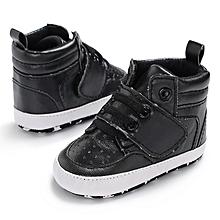a3b9963080 Baby Girl Boy Soft Warm Boots Anti-slip Crib Shoe Black