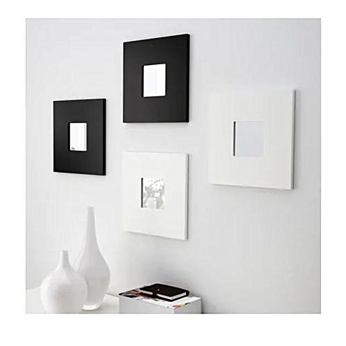 MALMA 4-Piece White And Black Decorative Mirror