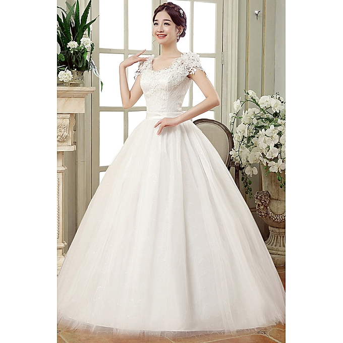 Buy vfocs wedding dresses white romantic wedding gown fashionable wedding dresses white romantic wedding gown fashionable bride junglespirit Choice Image