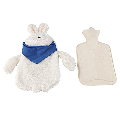 Sweetbaby Rubber Hot Water Bottle Bag With Soft Cute Rabbit Shape Cover Cushion Children Toy Gift