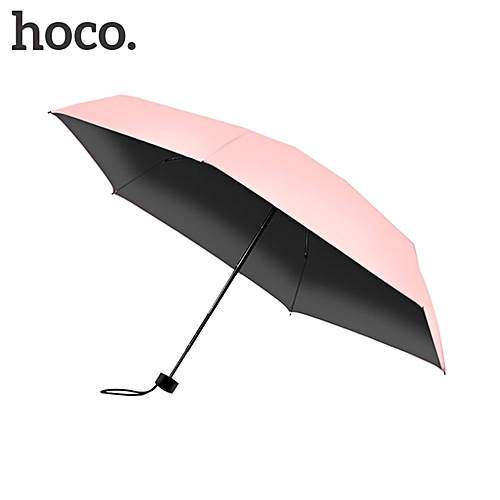 Allwin HOCO Compact Solid Color 5 Folding Wind Resistant UV Protect Rain Sun Umbrella
