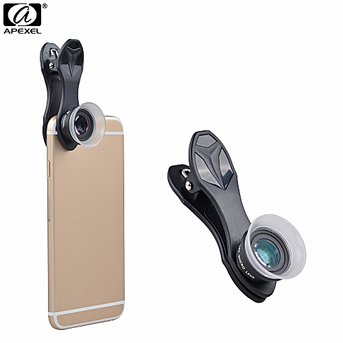 Apexel Cell Phone Camera Lens Kit,12x 24X Macro Lens For Iphone / Android Smartphone