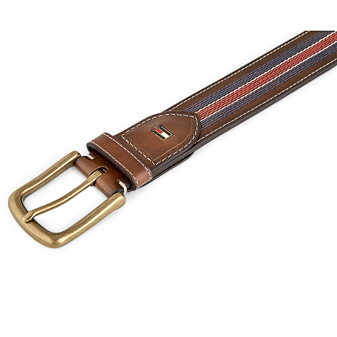 037d39640f0eb Tommy Hilfiger Men s Casual Belt With Center Stripe-Stitch Detail ...