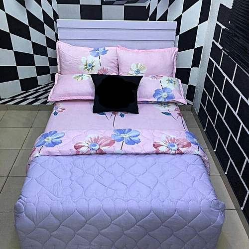 Cotton Bed Sheets With 4 Pillow Cases