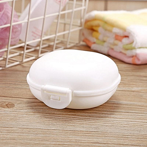 Eleganya 1PC Candy Color Travel Practical Portable Waterproof Soap Box With Cover Bathroom Accessories