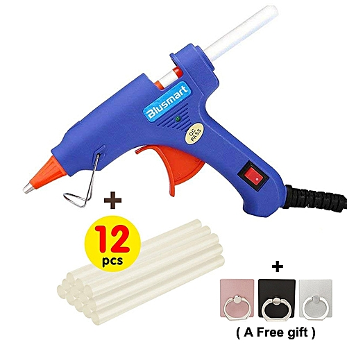 12 Pcs Free Melt Glue Sticks+Upgraded 20W Hot Glue Gun