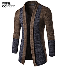 dae37fbcce4a New Men's Fashion Cardigan Sweatshirts Casual Slim Fit Cardigan  Hoodies Cotton Stitching