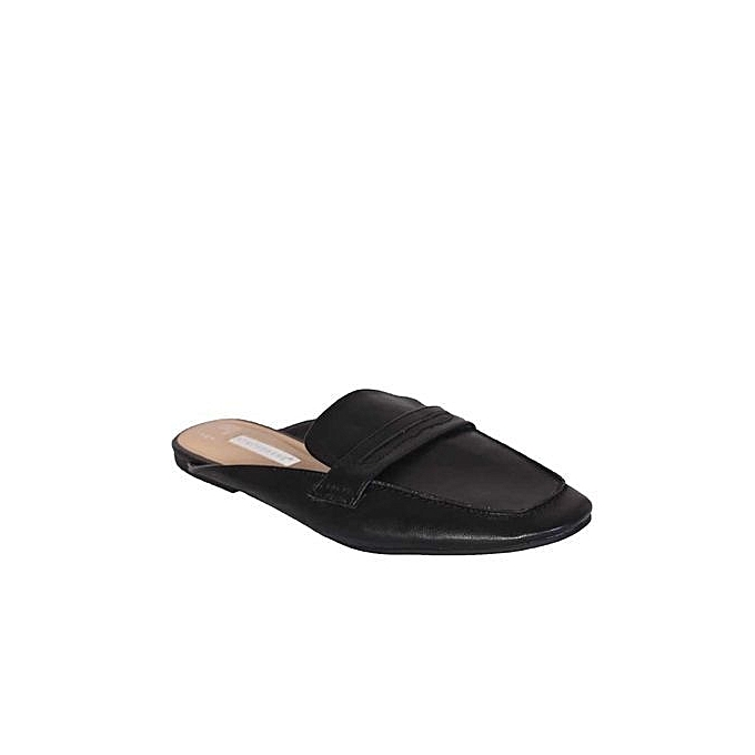 93cfe3bb0c9 Atmosphere Coverage Mule Loafers Slippers - Black