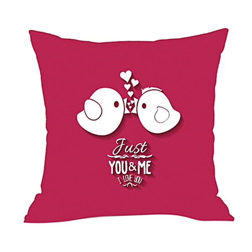 Valentine's Day Fashion Throw Pillow Cases Cafe Sofa Cushion Cover Home Decor C