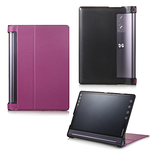 official photos f30cf 5041d For Lenovo Yoga Tab 3 Pro 10.1 Case, Ultra Slim Hard Case + PU Leather  Smart Cover Stand For Yoga Tab3 Plus YT-X703/YT3-X90, Purple