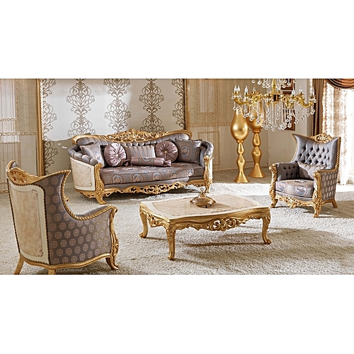 Royal Gaze 5 Seater Fabric Set With Coffee Table To Match