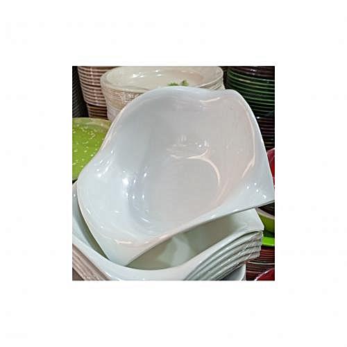Unbreakable Ceramic Plates White (6pieces)