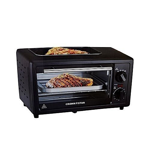 Electric Toaster Oven With Top Grill-11L