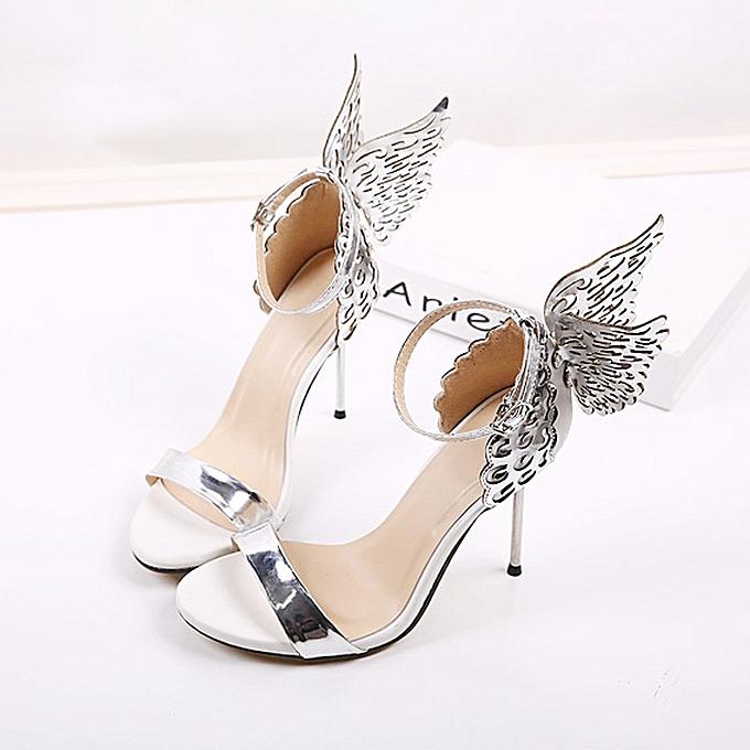 5a2c4c05597 Fashion Women Valentine Shoes Bronzing Sequins Big Bowknot High Heels  Sandals(CN Size)