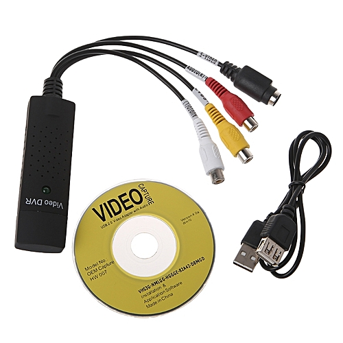 USB 2.0 Video Capture Card Adapter TV DVD VHS DVR Converter Video Card For Computer Camera